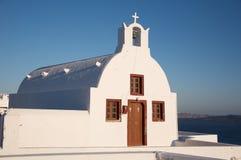 Cappella in Santorini Fotografie Stock Libere da Diritti