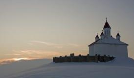 Cappella sulla collina Fotografie Stock