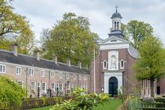 Cappella in un beguinage olandese immagine stock libera da diritti