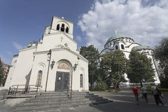 Cappella vicino al san Sava Cathedral a Belgrado Immagini Stock