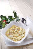 Cappelletti in broth, typical Italian pasta Stock Image