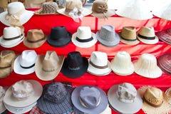 Cappelli al mercato di galleggiamento di Damnoen Saduak Fotografie Stock