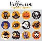 Cappelli a cilindro del bigné di Halloween Fotografia Stock