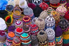 Cappelli decorativi delle lane Fotografia Stock