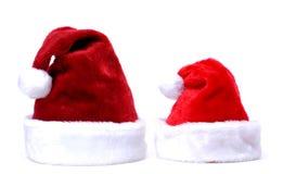 Cappelli del Babbo Natale Fotografia Stock