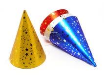 Cappelli del partito immagini stock