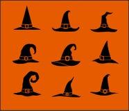 Cappelli della strega Fotografie Stock Libere da Diritti