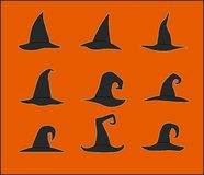 Cappelli della strega Fotografia Stock