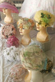 Cappelli delle signore dell'annata Fotografia Stock Libera da Diritti