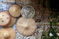Cappelli di bambù cinesi Fotografie Stock Libere da Diritti