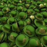 Cappelli di giocatore di bocce di giorno della st Patricks Fotografia Stock Libera da Diritti