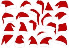 Cappelli di Natale impostati illustrazione vettoriale