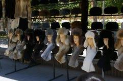 Cappelli di pelliccia Fotografia Stock