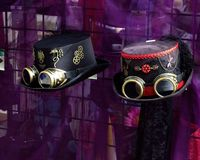 Cappelli di Steampunk Immagini Stock