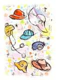 Cappelli imprecisi Immagini Stock