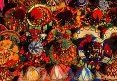 Cappelli marocchini variopinti tipici Fotografie Stock Libere da Diritti