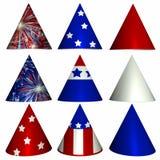 Cappelli patriottici del partito Immagine Stock