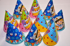 Cappelli per il compleanno Fotografia Stock