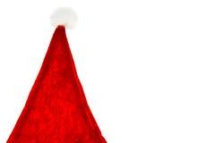 Cappelli rossi del Babbo Natale Fotografia Stock