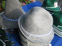 Cappelli tedeschi da vendere Fotografia Stock