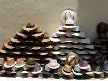 Cappelli tropicali della paglia a Cartagine Fotografia Stock Libera da Diritti
