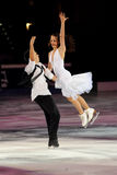 Cappellini e Lanotte at 2011 Golden Skate Award Royalty Free Stock Images