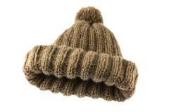 Cappello 2 del crochet di piegatura del Brown Immagini Stock