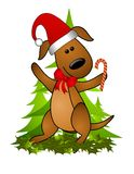 Cappello 2 della Santa del cane di natale illustrazione vettoriale