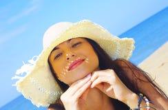 In cappello Fotografia Stock
