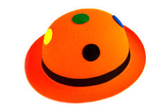 Cappello arancio di carnevale Fotografie Stock Libere da Diritti