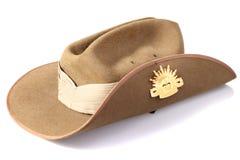 Cappello australiano dell'esercito Immagini Stock