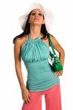 Cappello bianco Latina Fotografie Stock Libere da Diritti