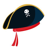 Cappello blu del pirata del fumetto con Fotografie Stock Libere da Diritti