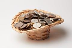 Cappello con soldi Fotografie Stock