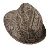 Cappello con un bordo isolato su bianco Fotografie Stock Libere da Diritti