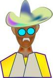 Cappello da cowboy di immagine di colore dell'icona Fotografie Stock