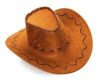 Cappello da cowboy isolato sui precedenti bianchi Fotografia Stock Libera da Diritti