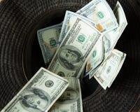 Cappello dei soldi fotografie stock