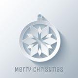 Cappello del Babbo Natale con le sfere dell'albero Immagini Stock