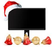 Cappello del Babbo Natale e del video fotografia stock libera da diritti