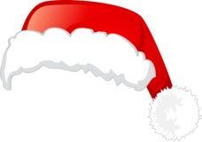 Cappello del Babbo Natale, isolato su priorità bassa bianca Fotografia Stock