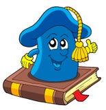 Cappello del banco sul libro royalty illustrazione gratis