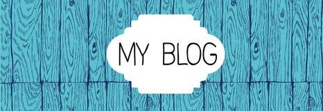 Cappello del blog con una struttura di legno Immagini Stock Libere da Diritti