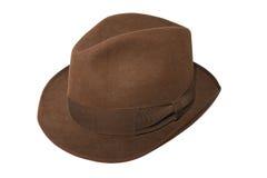 Cappello del Brown Fotografia Stock