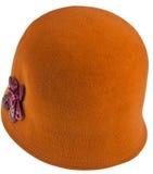 Cappello del cloche delle signore del feltro fotografie stock