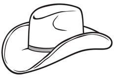 Cappello del cowboy Fotografia Stock