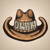 Cappello del cowboy Illustrazione di vettore per il disegno Immagini Stock Libere da Diritti