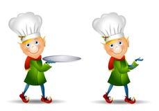 Cappello del cuoco unico dell'elfo di natale Immagine Stock Libera da Diritti