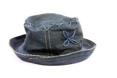 Cappello del denim Immagine Stock