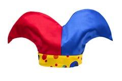 cappello del giullare isolato su priorità bassa bianca Immagine Stock Libera da Diritti
